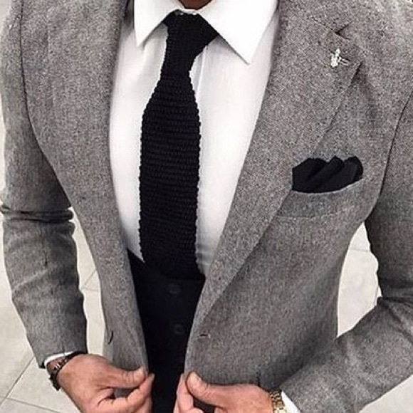 deb62bc1f256 Accessories | 100 Italian Silk Knit Tie Saks Fifth Avenue | Poshmark